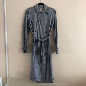 Forever21 Contemporary Houndstooth Trench Coat